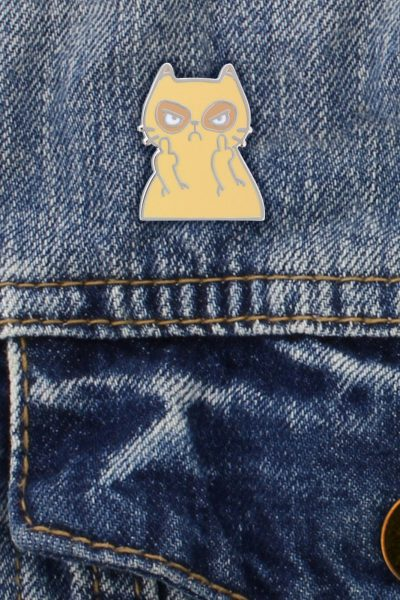 Muther Fluffer Enamel Pin