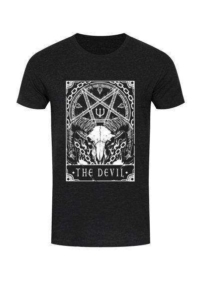 Tee Deadly Tarot The Devil Black