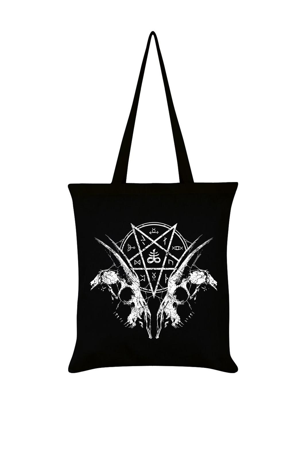 Tote Bag Goat Skull Pentagram