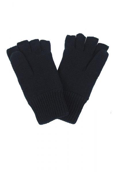 Knitted Fingerless Gloves Black