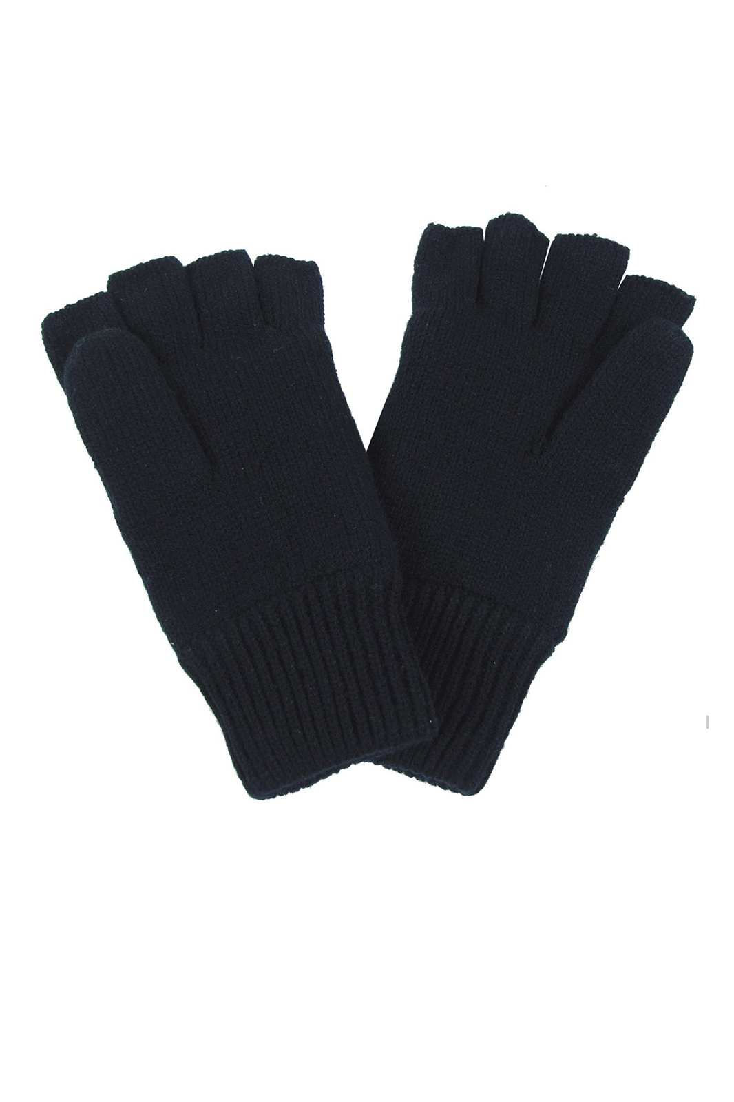 Knitted Fingerless Gloves Black