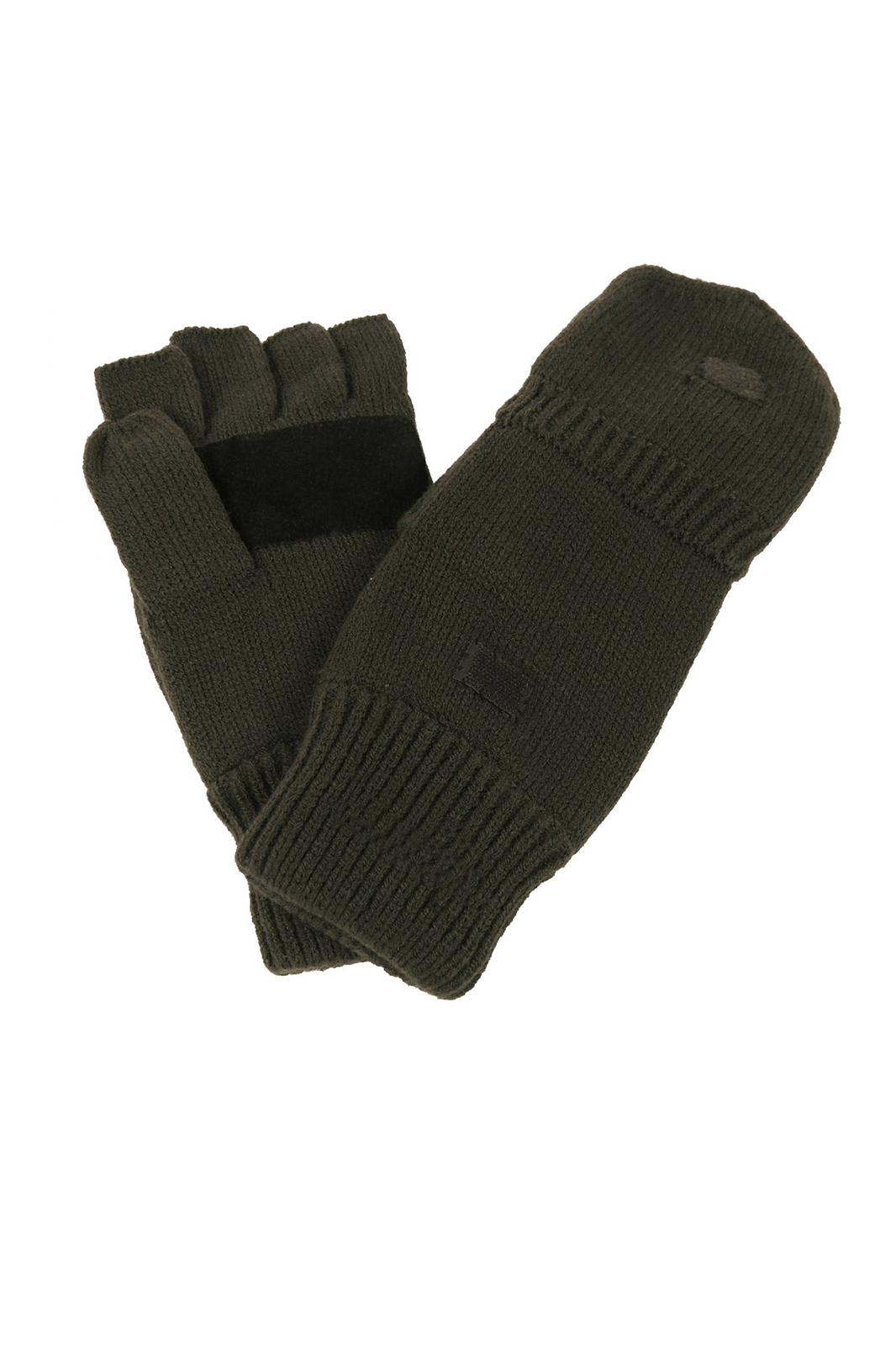 Knitted Finger/Thumb Gloves Olive Green