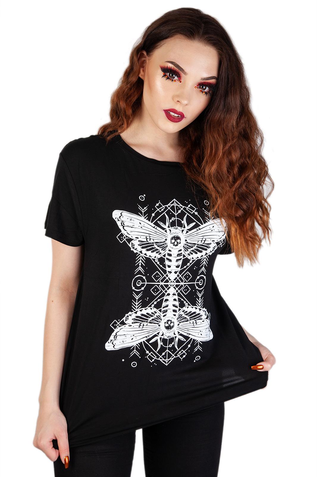 Death Moth Top Black