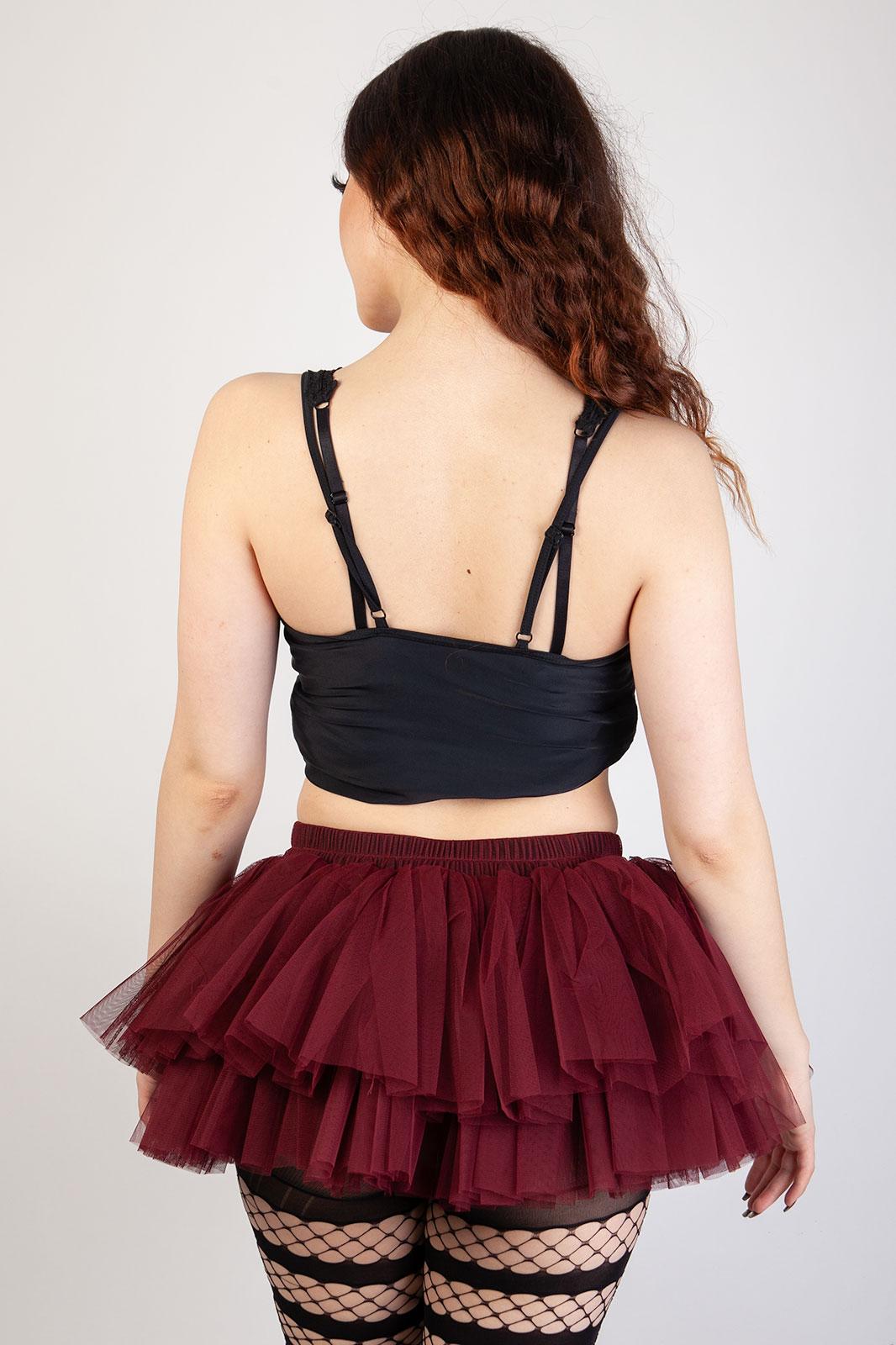 Tutu Skirt Burgundy Red
