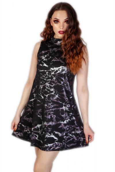 Silver Haze Dress Black