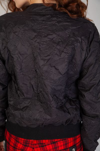 Black Lava Bomber Jacket Black