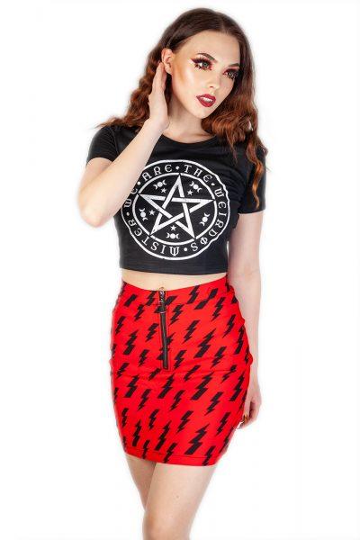 Thunderbolt Skirt Red
