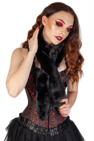Olga Faux Fur Wrap Scarf