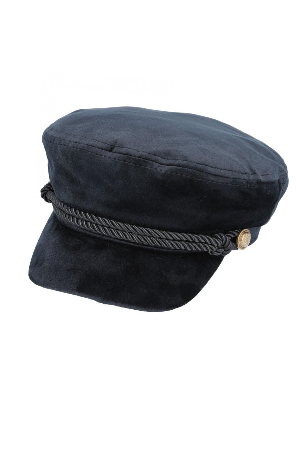Maz Velvet Breton Hat Black