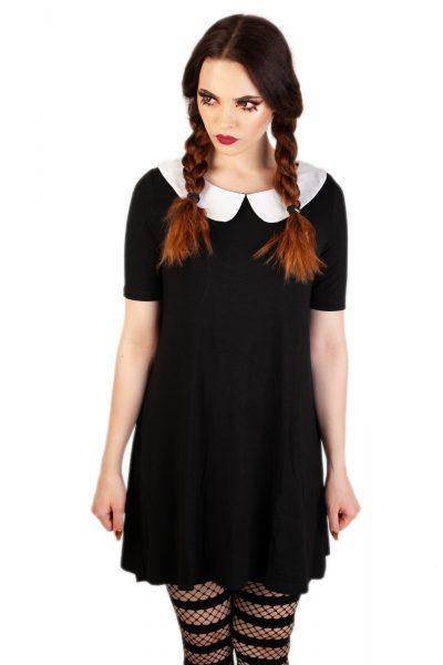 Mrs Not Nice Collar Dress Black