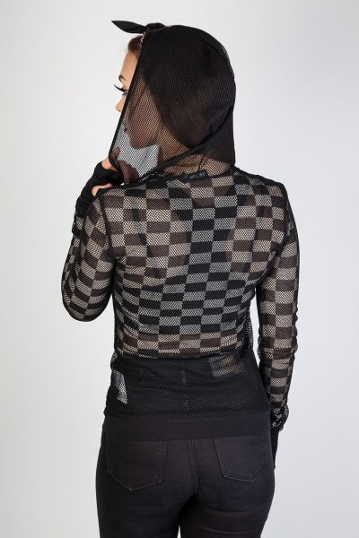 Good Girls Mesh Hoodie Black
