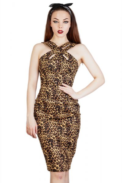 Lauren Leopard Pencil Dress Leopard