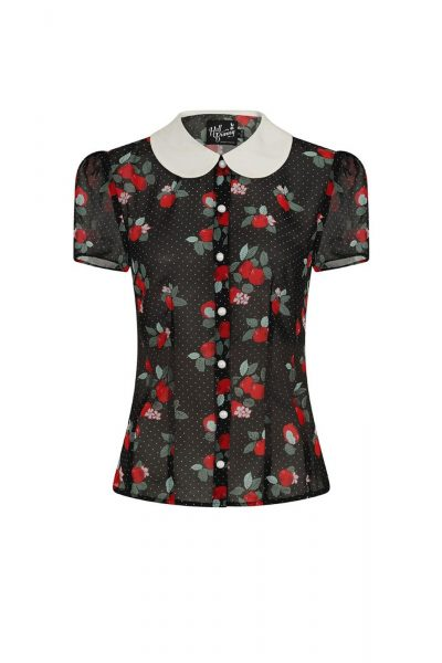 Apple Blossom Blouse Black