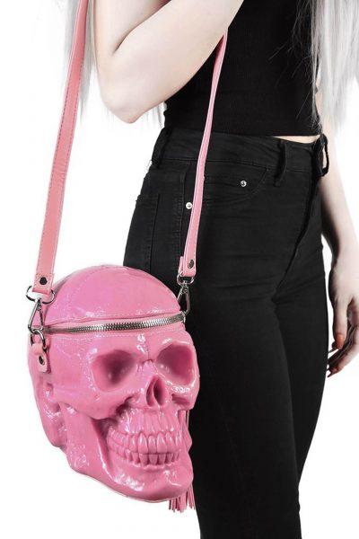 Grave Digger Skull Handbag Bubblegum