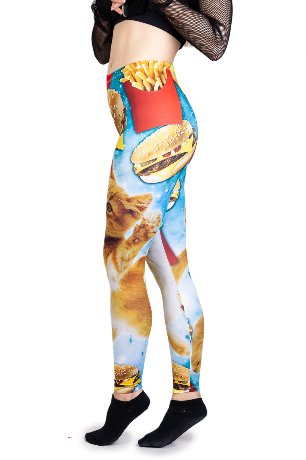 Leggings Fast Food Cat