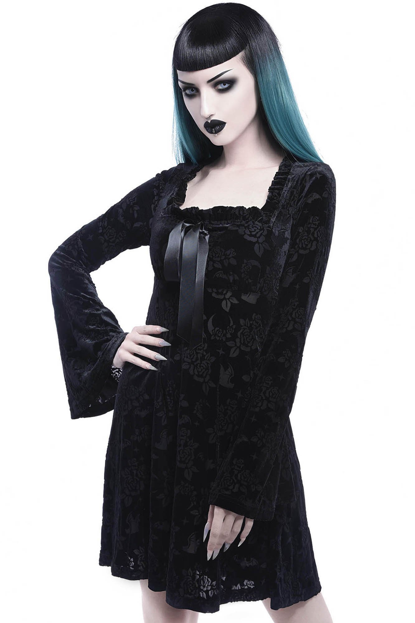 Under Your Spell Maiden Dress Black