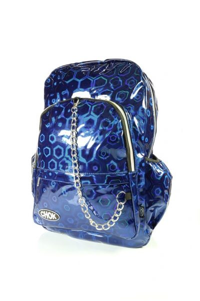 Holographic Blue Backpack
