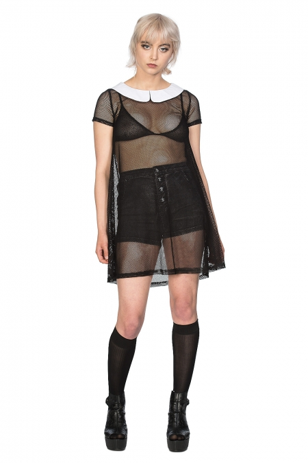 Temptress Collar Dress Black
