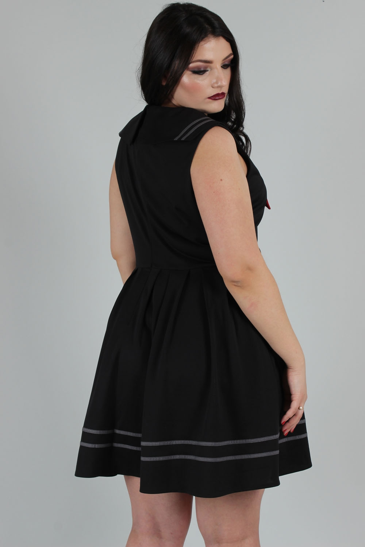 Sailor Goth Dress Black