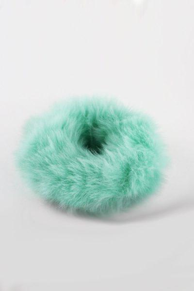 Fuzzy Thing Scrunchie Turqouise