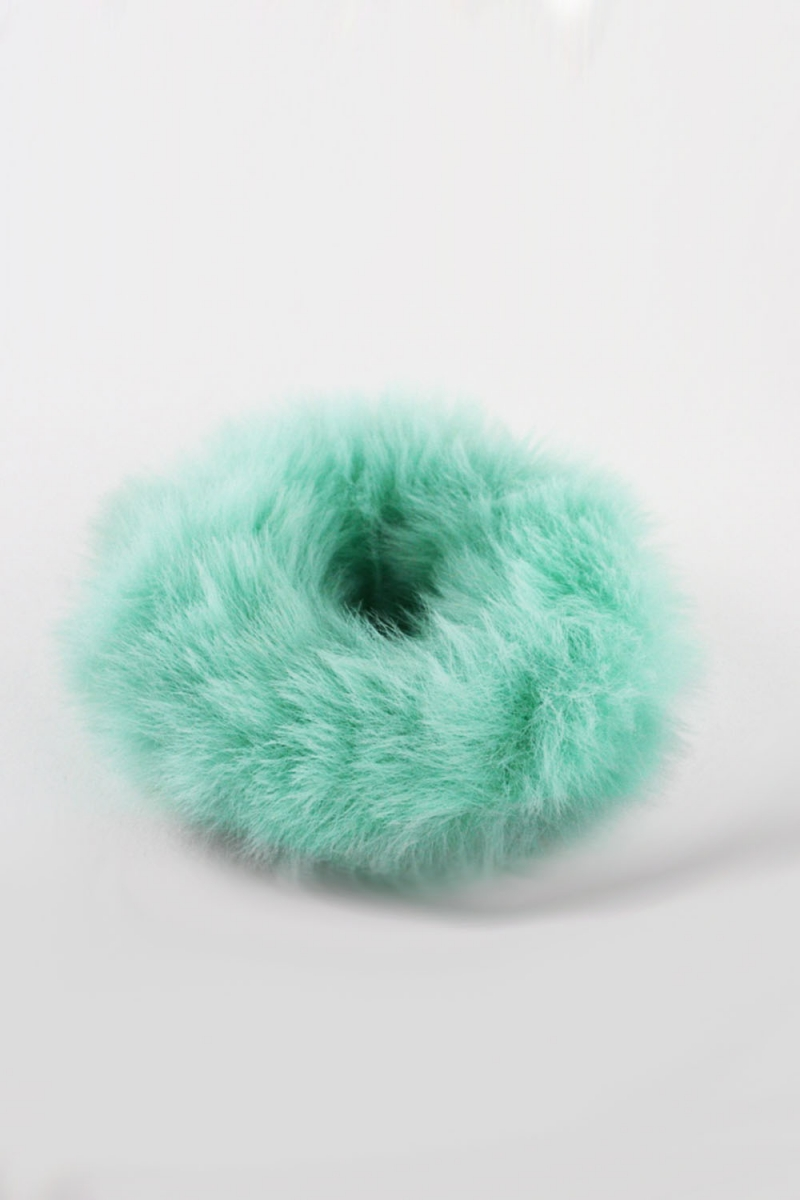 Fuzzy Thing Scrunchie Turqouise