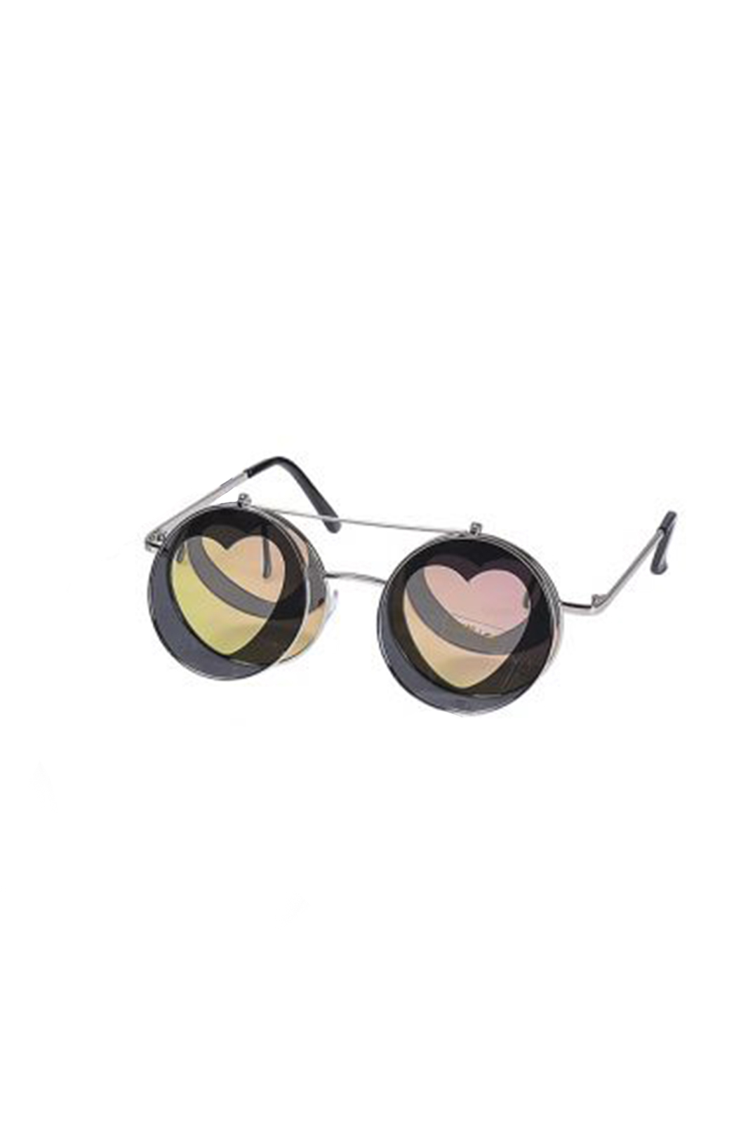 Sunglasses Heart Shaped Flip Up Rose