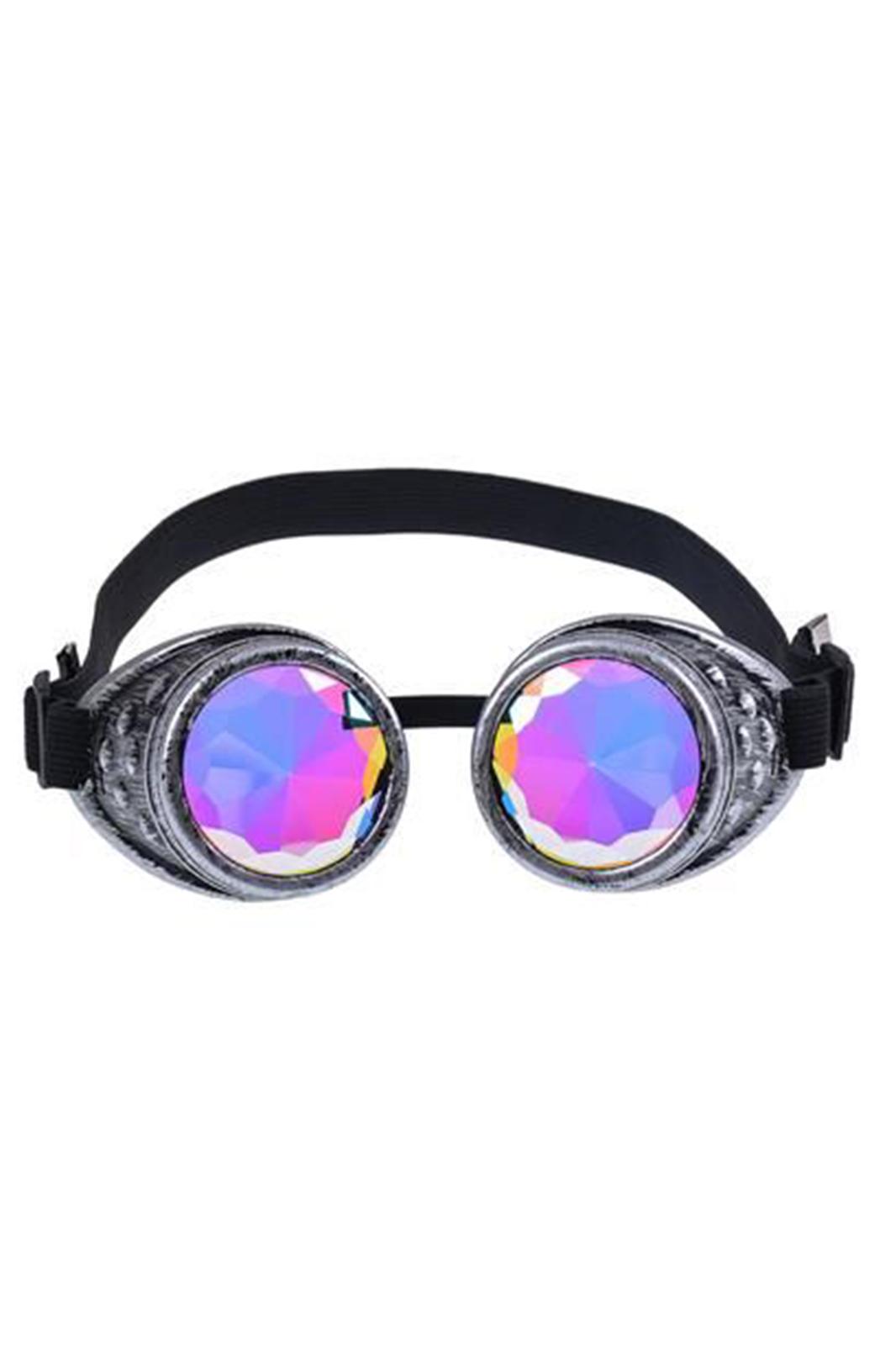 Antique Silver Kaleidoscope Goggles