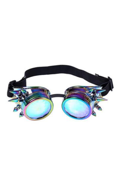 Neo Chrome Spiked Kaleidoscope Goggles