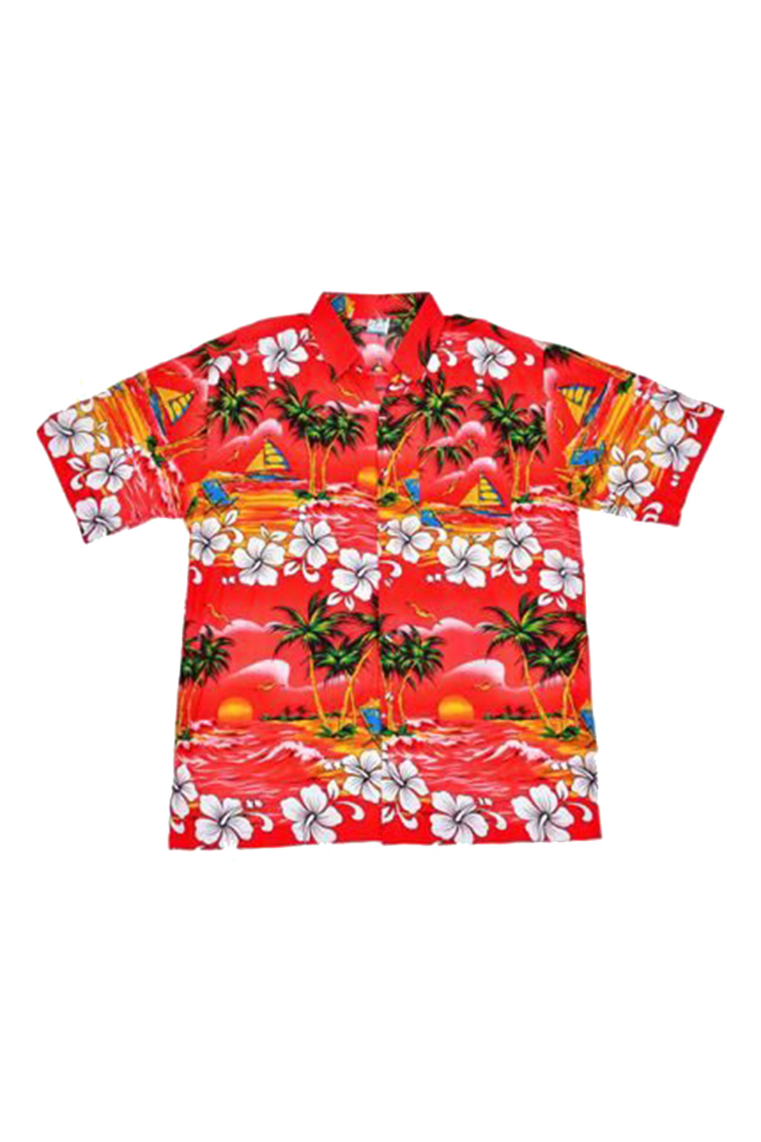 Hawaii Shirt Palm Tree Red