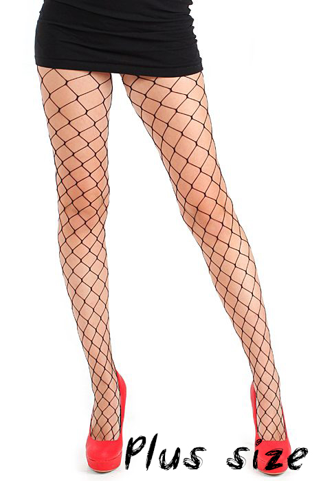 Extra Large Net Tights Black Plus Size