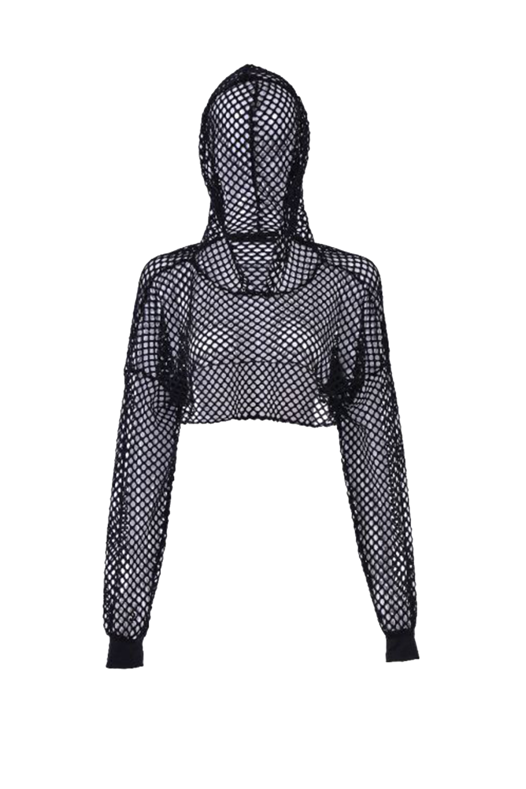 Big Net Hooded Top Black