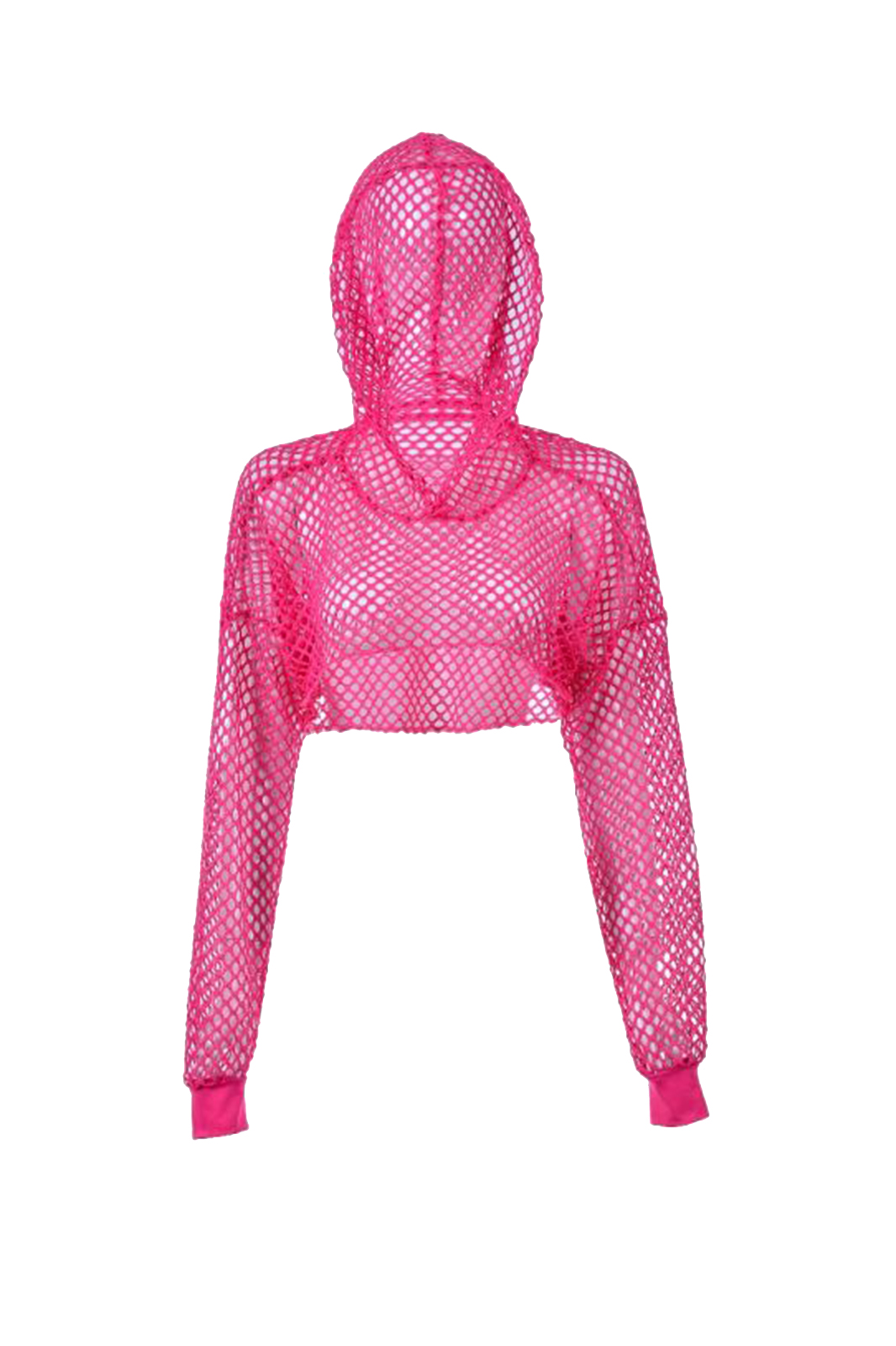 Big Net Hooded Top Pink