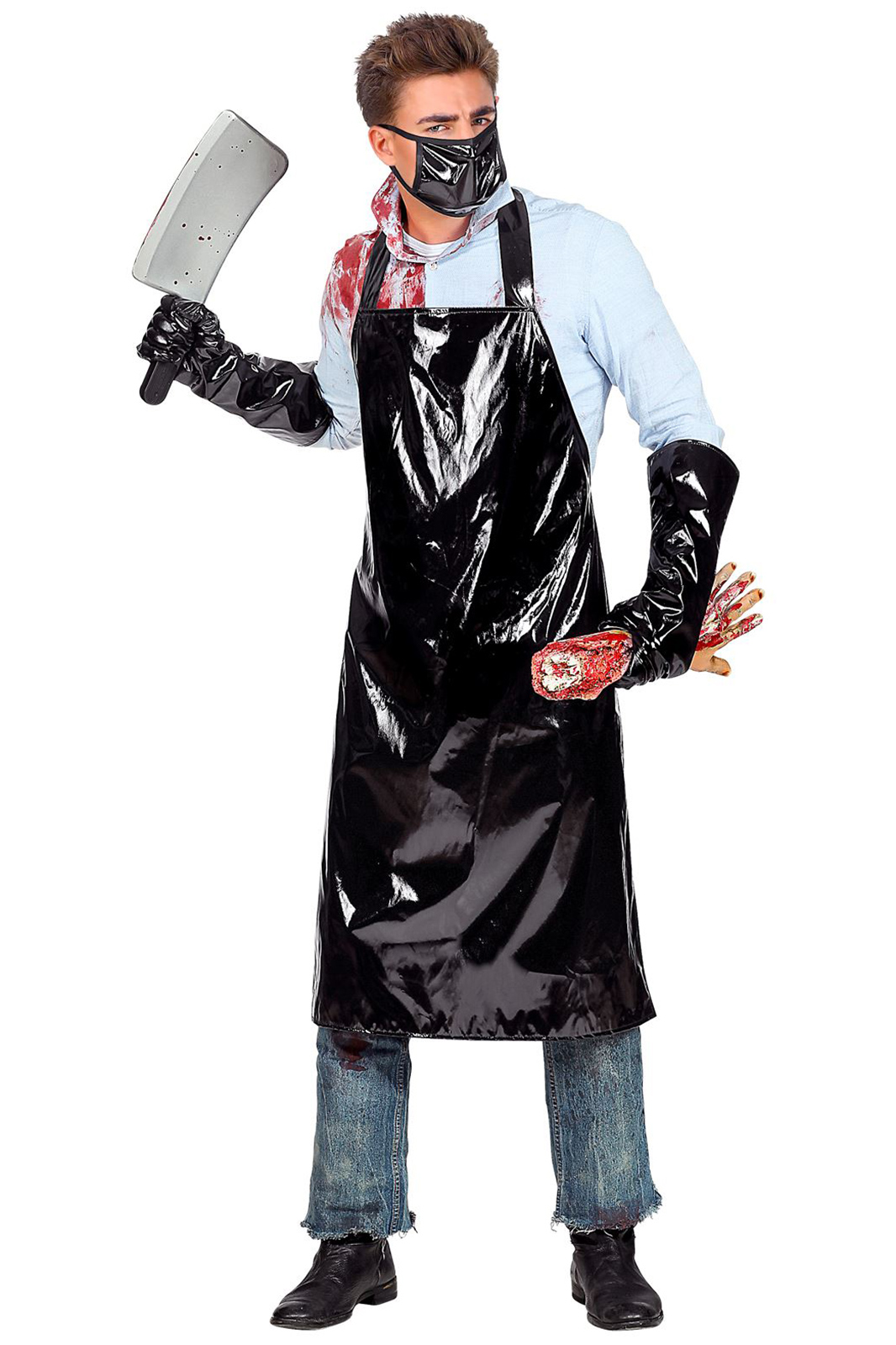 Horror Butcher Apron Black