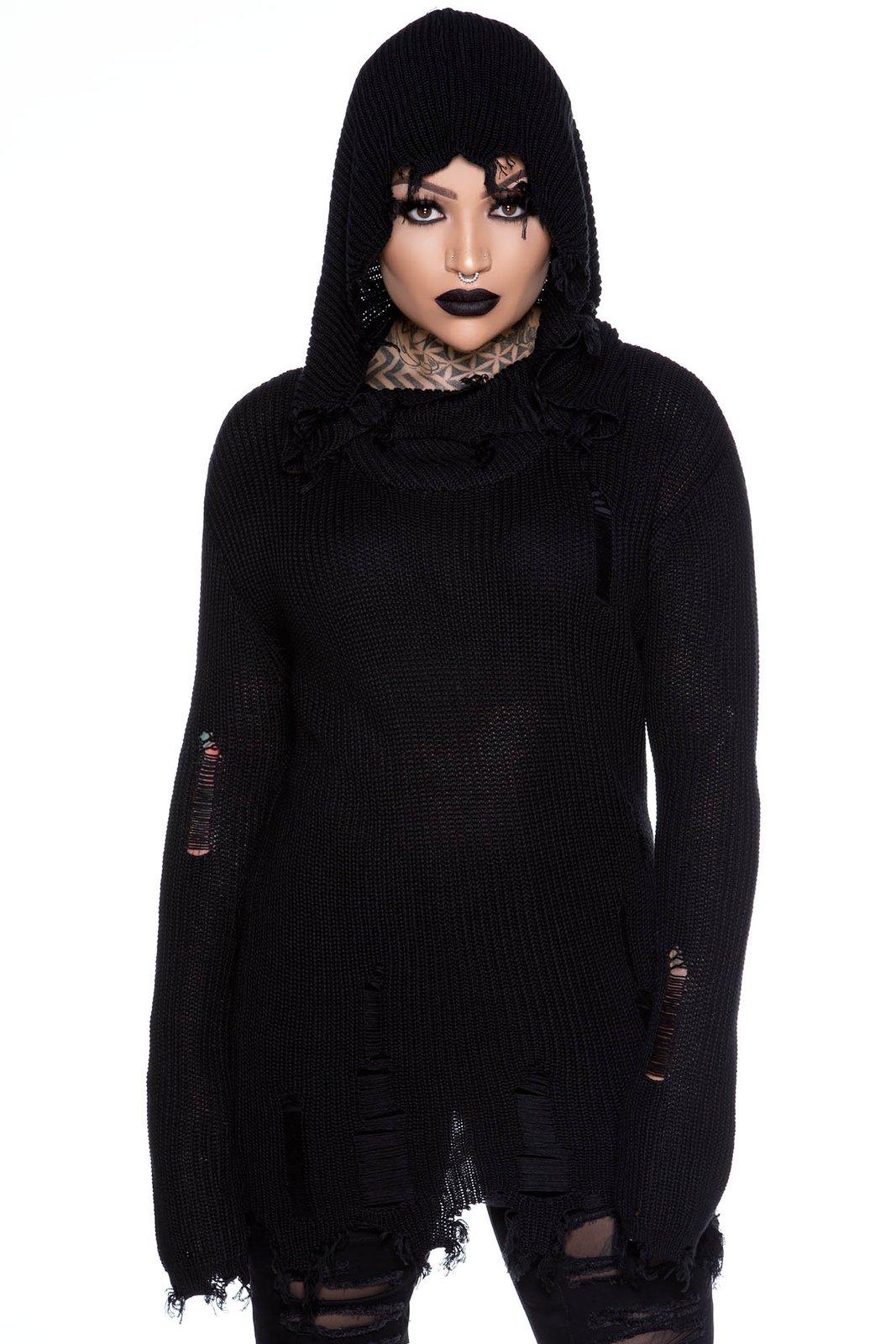 Chakra Knit Tunic Black