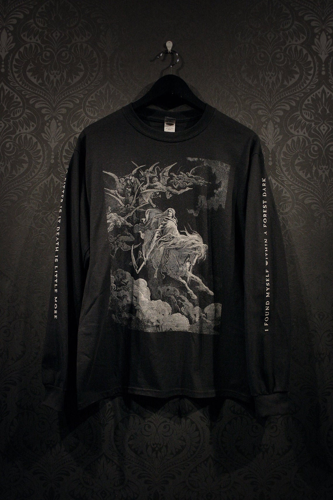 Death G.D. Illustration Longsleeve Black
