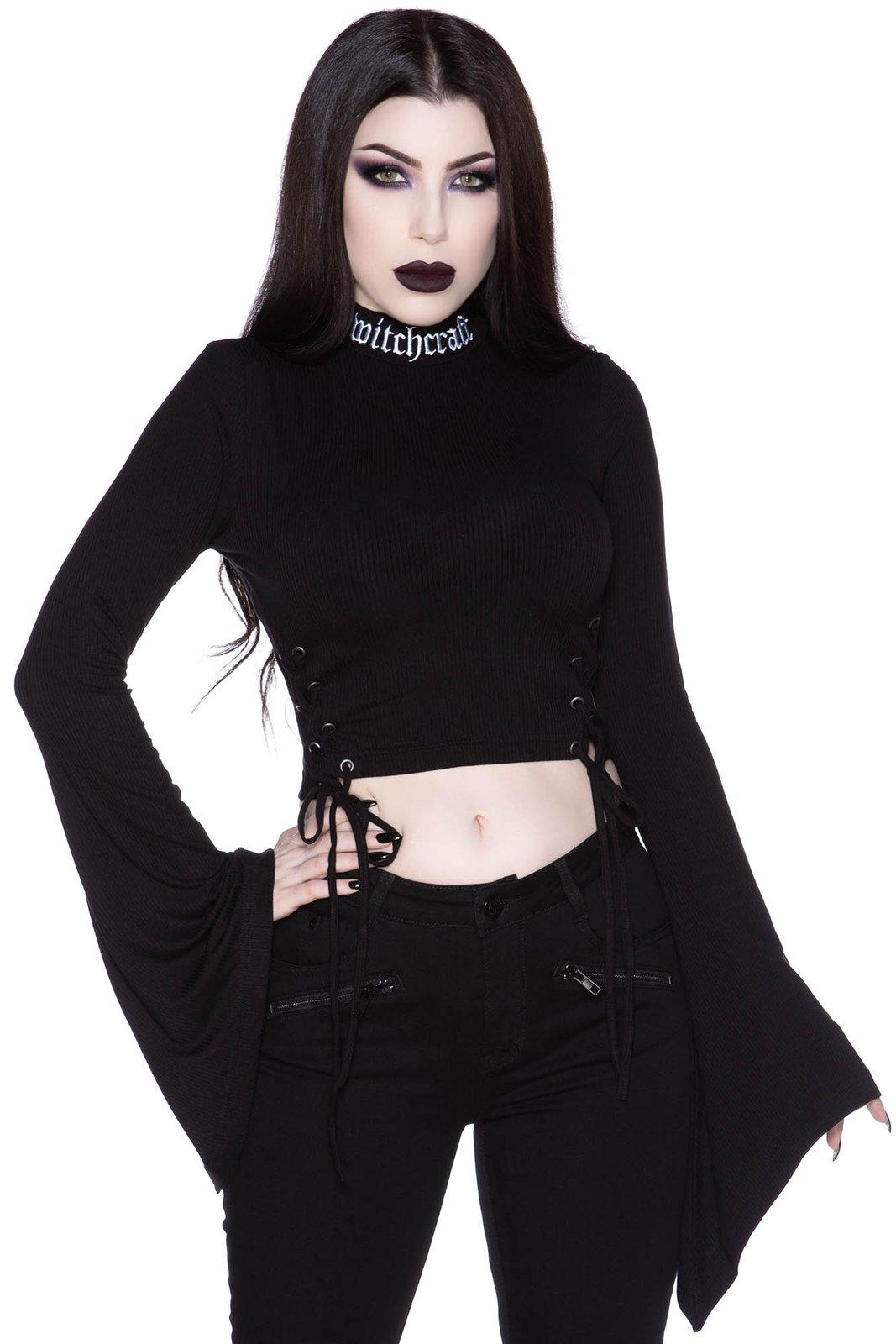 Cindy Long Sleeve Top Black