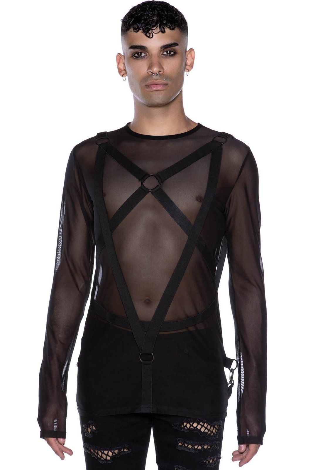Elysium Fishnet Top Black