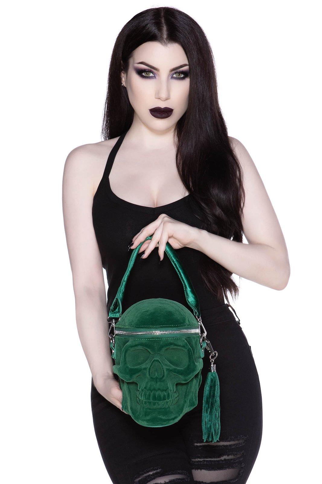 Grave Digger Skull Handbag Green