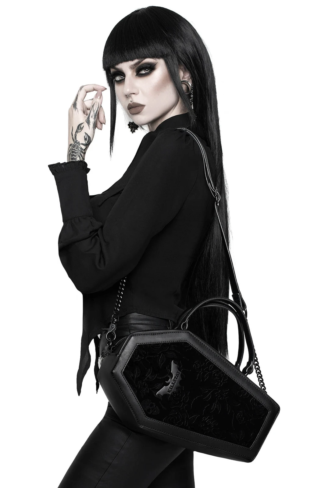 Vampires Kiss Coffin Handbag