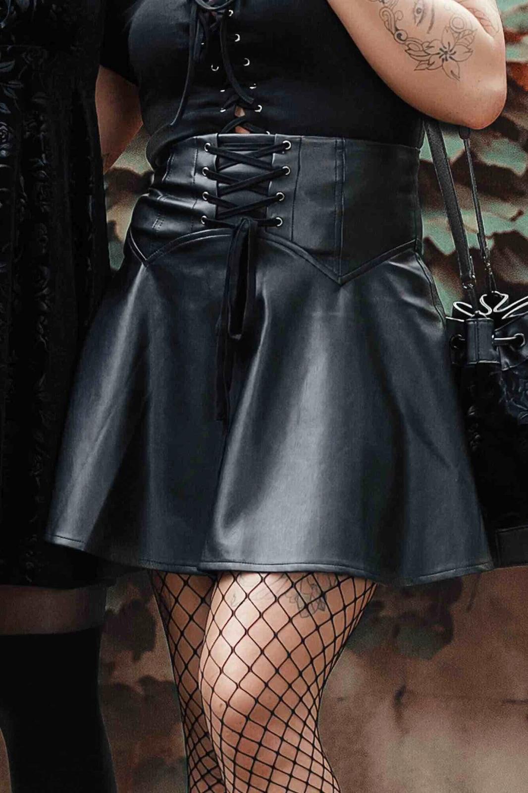 Dearest Rose Mini Skirt Black