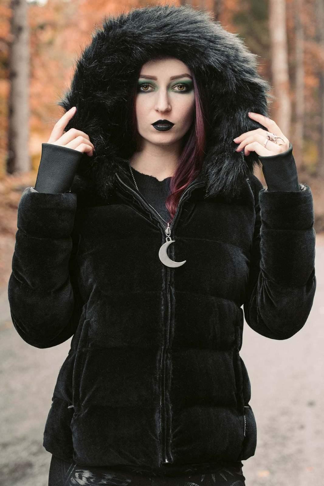 Lisa Luna Velvet Jacket Black