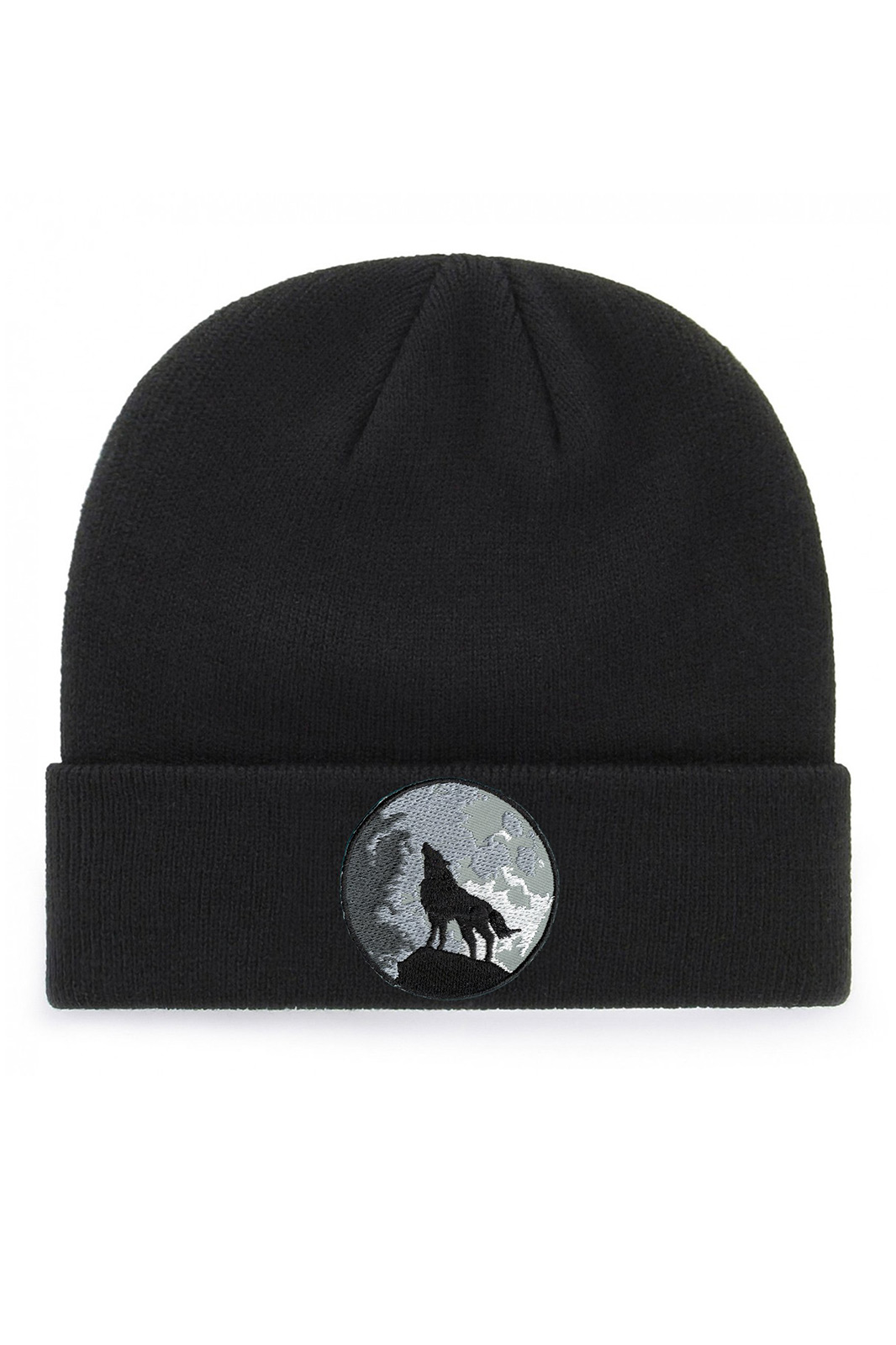 Wolf and Moon Beanie