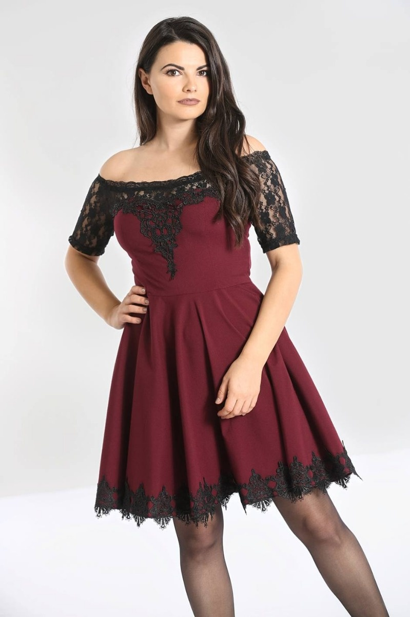 Amara Mini Dress Burgundy