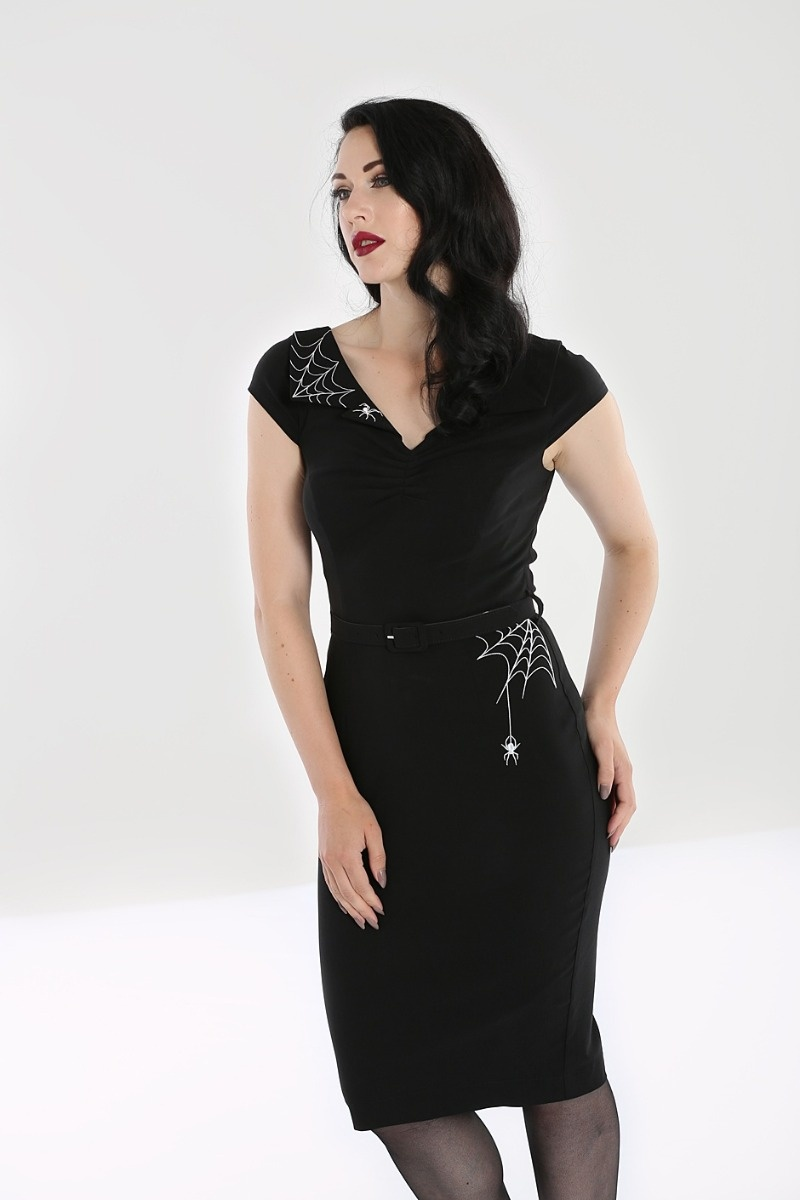 Miss Muffet Pencil Dress Black
