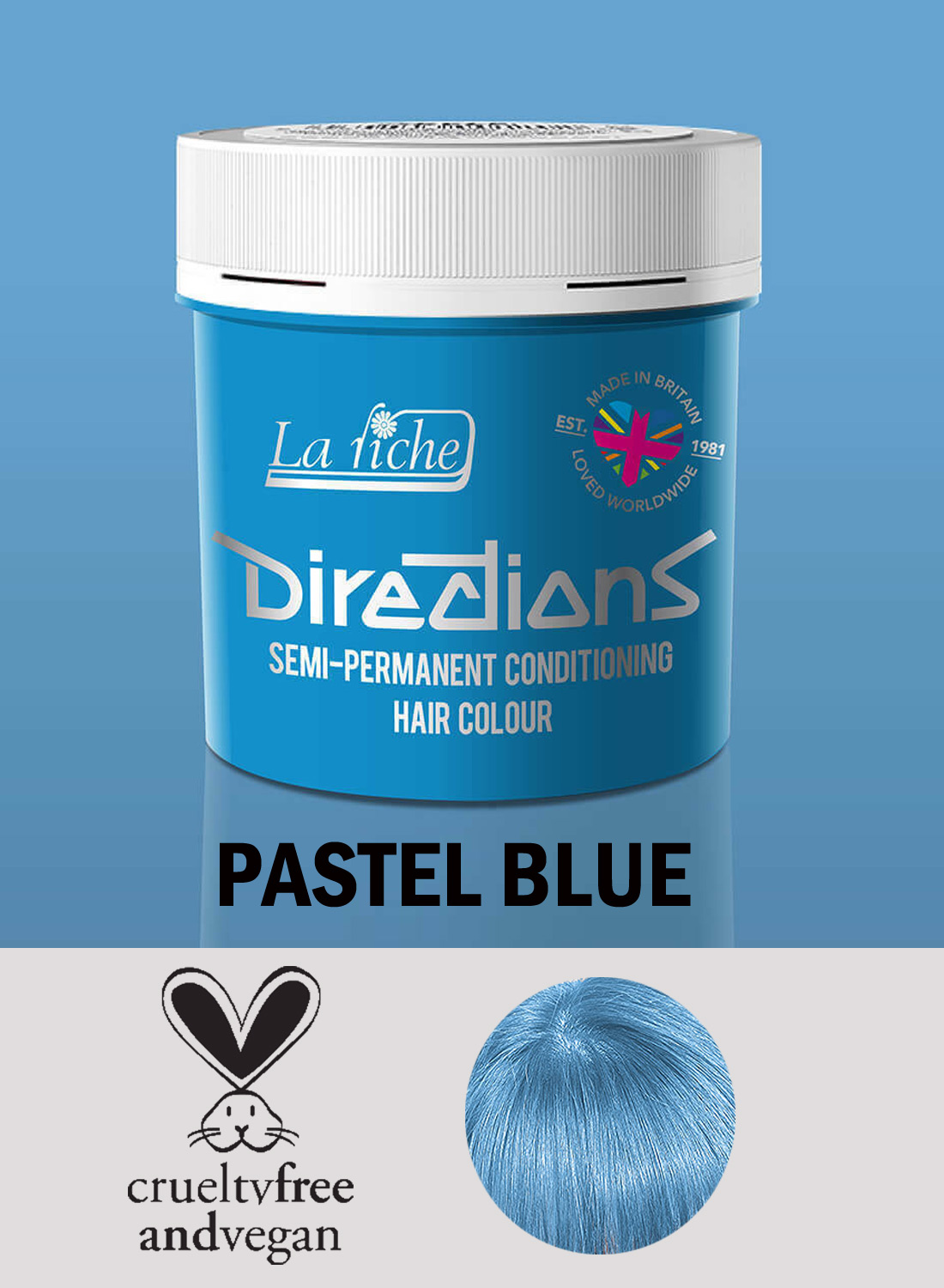 Directions Hair Colour Pastel Blue