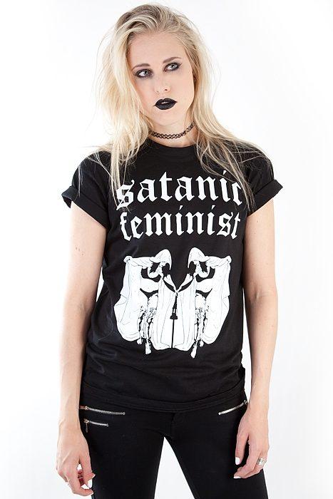 Satanic Feminist Unisex Tee Black