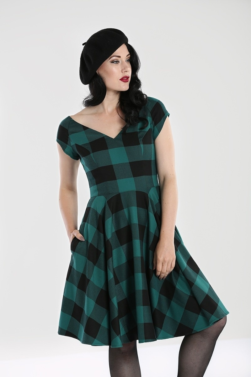 Teen Spirit Mid Dress Green