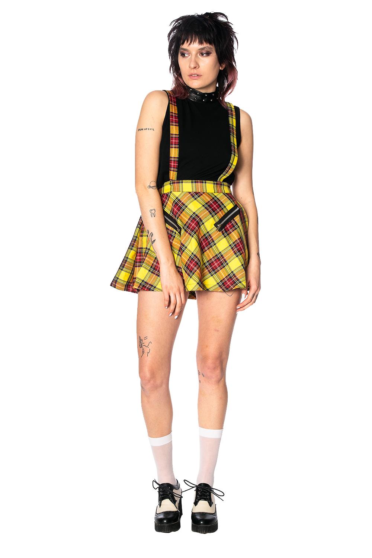 Highlife Pinafore Skirt Yellow