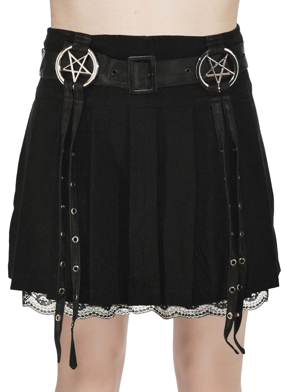 Enchantress pentagram skirt-black