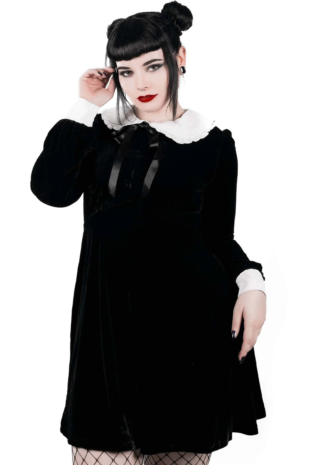 Hope In Hell Collar Dress Black